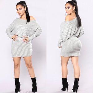 Off The Shoulder Sweater Dress | Fashion Nova